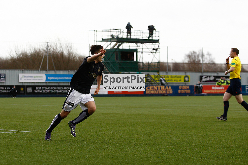 Kevin O&rsquo;Hara ruled offside after thinking he&rsquo;d scored in the Falkirk v Rangers Falkirk Stadium 19 December 2015<br /><br />(c) Russell G Sneddon / SportPix.org.uk