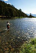 Fly fishing, Snake River, Idaho.
