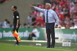 Leicester City manager Claudio Ranieri gets animated - Mandatory byline: Jason Brown/JMP - 07966386802 - 07/08/2016 - FOOTBALL - Wembley Stadium - London, England - Leicester City v Manchester United - FA Community Shield