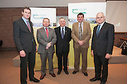 Sean Kyne TD, Ciaran Cannon TD, Prof Gerry Boyle, Teagasc Director , Shane McEntee TD, Minister of State at the Department of Agriculture Food and the Marine and Cllr Peter Feeney at the launch of Sheep 2012.. Photo:Andrew Downes