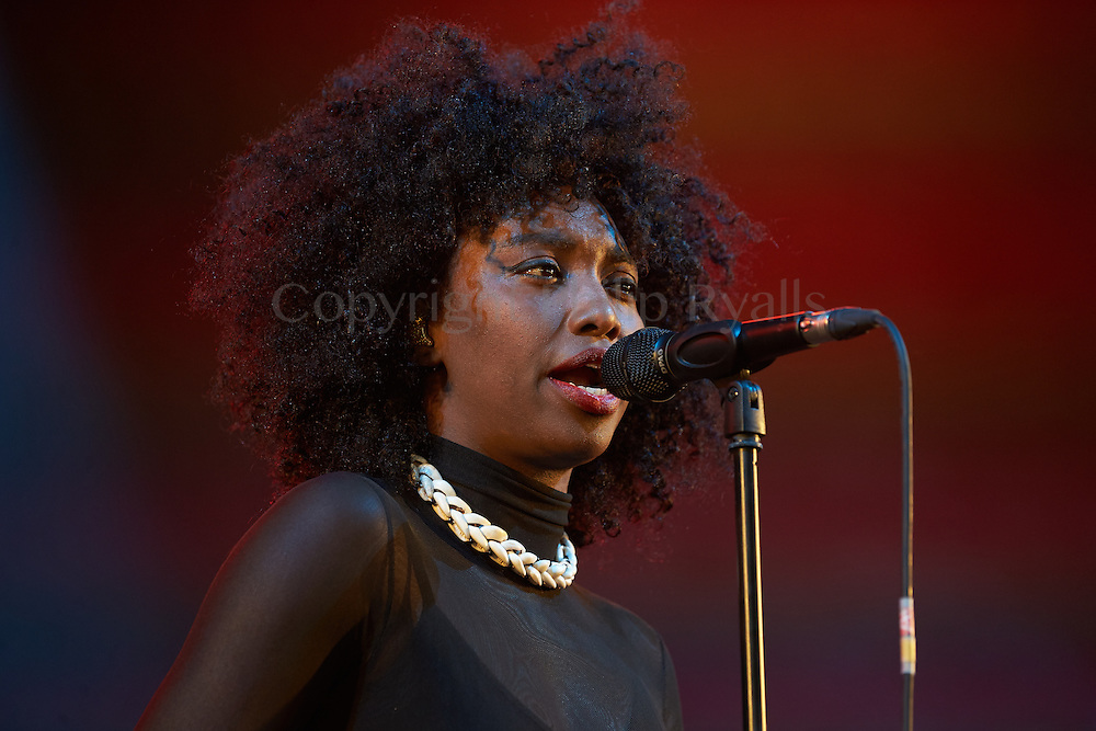 MALMESBURY, UK - JULY 30: Inna Modja performs on stage at Womad on July 30th, 2016 in Wiltshire, United Kingdom. (Photo by Philip Ryalls)**Inna Modja