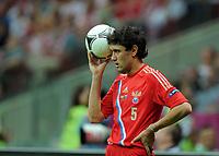 Fotball<br /> EM 2012<br /> 16.06.2012<br /> Hellas v Russland<br /> Foto: Witters/Digitalsport<br /> NORWAY ONLY<br /> <br /> Yuriy Zhirkov (Juri Schirkow, Russland)<br /> Fussball EURO 2012, Vorrunde, Gruppe A, Griechenland - Russland 1:0