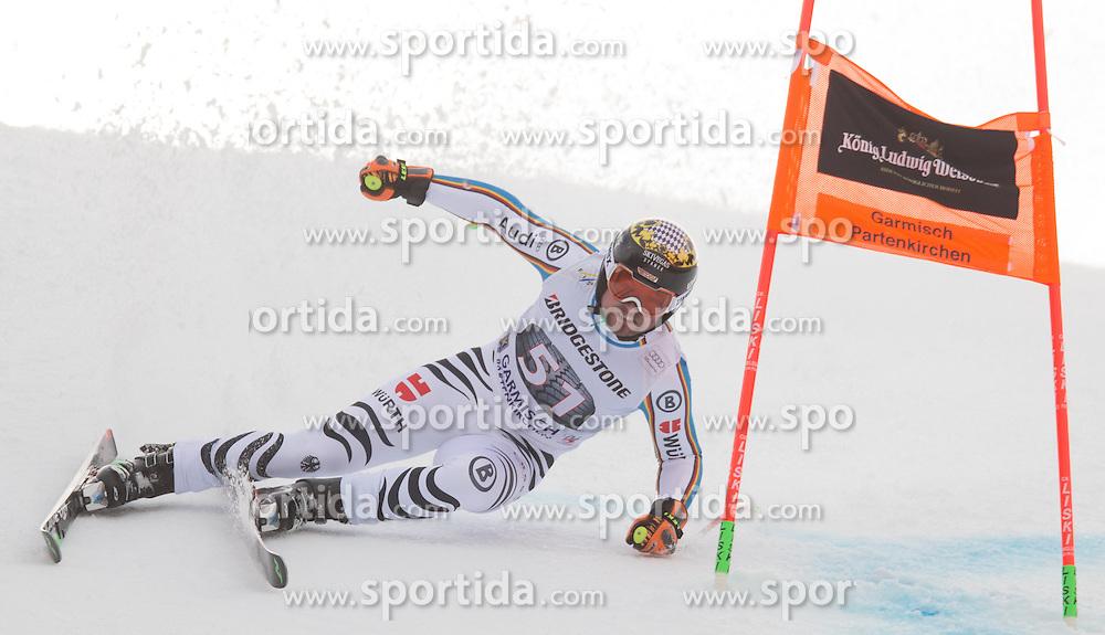 28.01.2016, Kandahar, Garmisch Partenkirchen, GER, FIS Weltcup Ski Alpin, Abfahrt, Herren, 1. Training, im Bild Klaus Brandner (GER) // Klaus Brandner of Germany competes in his 1st training run for the men's Downhill of Garmisch FIS Ski Alpine World Cup at the Kandahar course in Garmisch Partenkirchen, Germany on 2016/01/28. EXPA Pictures © 2016, PhotoCredit: EXPA/ Johann Groder