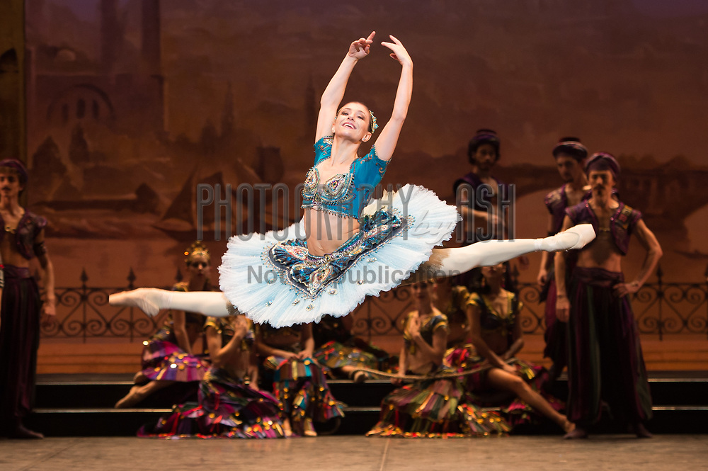 Alina Cojacaru dancing in the English National Ballet dress rehearsal for the world premiere of Le Corsaire at Milton Keynes Theatre, Milton Keynes on October, 16 2013. Photo: Arnaud Stephenson