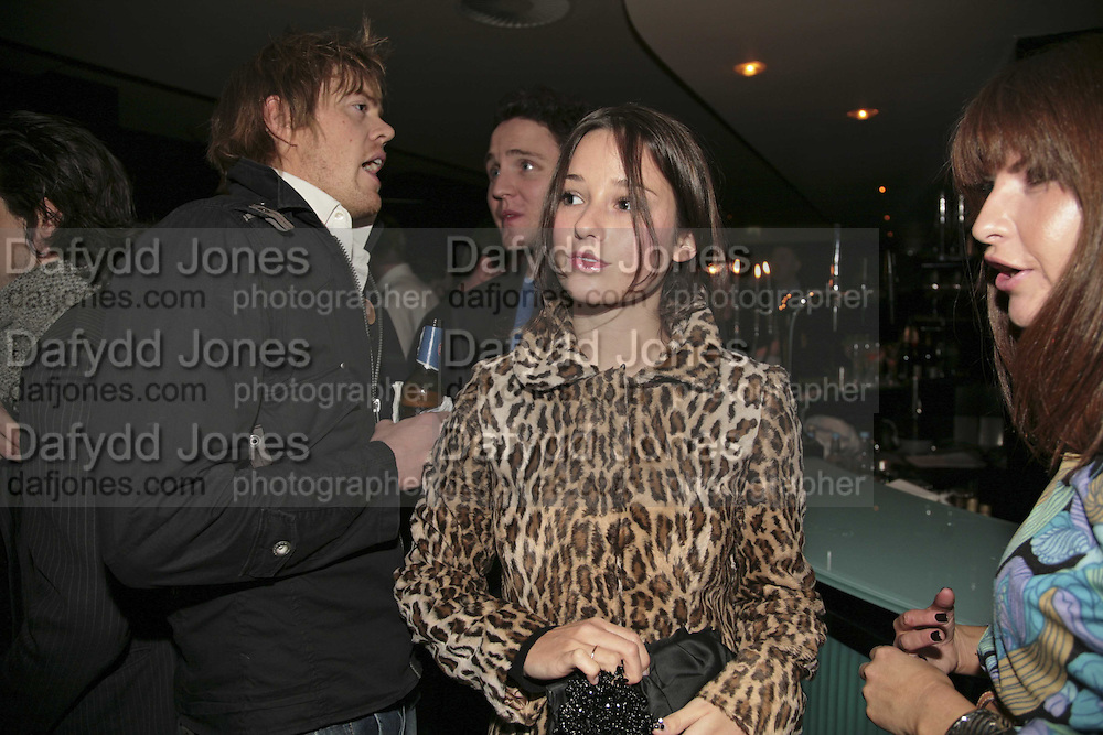 KELLY EASTWOOD, THREE'S A CROWD EVENTS LAUNCHES, THE MAYFAIR HOTEL BAR, STATTON ST. LONDON.<br />5 December 2006. ONE TIME USE ONLY - DO NOT ARCHIVE  &copy; Copyright Photograph by Dafydd Jones 248 CLAPHAM PARK RD. LONDON SW90PZ.  Tel 020 7733 0108 www.dafjones.com