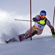 Michael Janyk, Canada, in action during the Men's Slalom event during the Winter Games at Cardrona, Wanaka, New Zealand, 24th August 2011. Photo Tim Clayton...