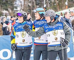 25.01.2020, Streif, Kitzbühel, AUT, FIS Weltcup Ski Alpin, im Rahmen der KitzCharityTrophy 2020 am Samstag, 25. Jänner 2020, auf der Streif in Kitzbühel. // f.l. Michael Steiner Lutz Meschke Platen Detlev Von during the KitzCharityTrophy 2020 at the Streif in Kitzbühel, Austria on 2020/01/25, im Bild v.l. Michael Steiner, Lutz Meschke, Platen Detlev Von // f.l. Michael Steiner Lutz Meschke Platen Detlev Von during the KitzCharityTrophy 2020 at the Streif in Kitzbühel, Austria on 2020/01/25. EXPA Pictures © 2020, PhotoCredit: EXPA/ Stefan Adelsberger