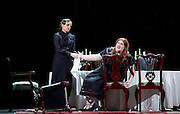 The Force of Destiny <br /> by Verdi <br /> English National Opera and the London Coliseum, London, Great Britain <br /> rehearsal<br /> 6th November 2015 <br /> <br /> <br /> <br /> Tamara Wilson as Donna Leonora di Vargas<br /> <br /> Clare Presland as Curra<br /> <br /> <br /> Photograph by Elliott Franks <br /> Image licensed to Elliott Franks Photography Services