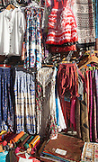 Close up of pretty female clothing on sale outside a tourist shop in, Granada, Spain