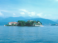 View of Isola Bella on Lake Maggiore in Lombardy,<br /> Italy