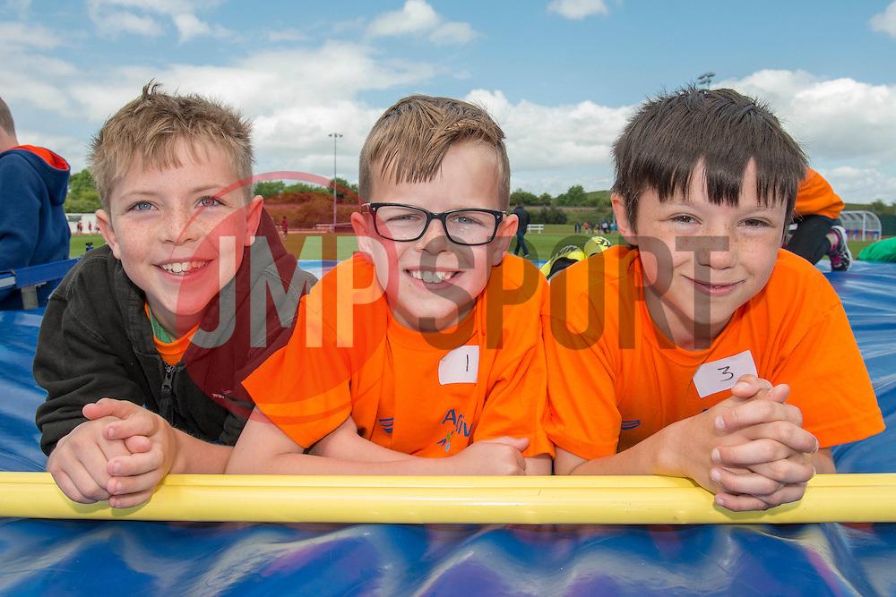 Children pose for a photo during the Bristol Sport Youth Festival - Photo mandatory by-line: Dougie Allward/JMP - Mobile: 07966 386802 - 06/06/2015 - SPORT - Multi-Sport - Bristol - SGS Wise Campus - Bristol Sport Festival Of Youth Sport - Festival Of Youth
