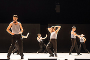 19/11/2012. London, UK. Batsheva Ensemble, the youth branch of world-renowned contemporary dance group, Batsheva Dance Company, appear at Sadler's Wells on Monday 19 – Wednesday 21 November, performing Deca Dance by Batsheva's Artistic Director Ohad Naharin - part of a Dance Consortium UK debut tour.