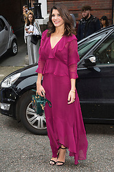 © Licensed to London News Pictures. 17/09/2016. NATALIE ANDERSON arrives for the JULIEN MACDONALD Spring/Summer 2017 show. Models, buyers, celebrities and the stylish descend upon London Fashion Week for the Spring/Summer 2017 clothes collection shows. London, UK. Photo credit: Ray Tang/LNP