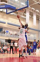 Bristol Flyers' Alif Bland scores a basket  - Photo mandatory by-line: Joe Meredith/JMP - Mobile: 07966 386802 - 21/02/2015 - SPORT - Basketball - Bristol - SGS Wise Campus - Bristol Flyers v Plymouth Uni Raiders - British Basketball League