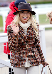 Georgia Toffolo during Ladies Day of the 2018 Cheltenham Festival at Cheltenham Racecourse.