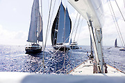 Sailing onboard Clan VIII during the St. Barth's Bucket Regatta, day three.