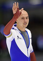 11-12-2015 NED: ISU World Cup, Heerenveen<br /> 500 meter / Pavel  Kulizhnikov RUS wint de 500 meter