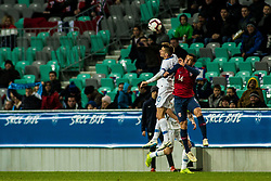 Zajc Miha of Slovenia and Omar Elyounoussi of Norway during football match between National Teams of Slovenia and Norwey in UEFA Nations League 2019, on November 16, 2018 in SRC Stozice, Ljubljana, Slovenia. Photo by Grega Valancic / Sportida