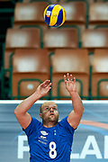 Katowice, Poland - 2017 September 02: Partner Jesse Soderlund from SO Finland receives the ball while SO Azerbaijan versus SO Finland match during European Unified Volleyball Tournament 2017 at Spodek Hall on September 02, 2017 in Katowice, Poland.<br /> <br /> Adam Nurkiewicz declares that he has no rights to the image of people at the photographs of his authorship.<br /> <br /> Picture also available in RAW (NEF) or TIFF format on special request.<br /> <br /> Any editorial, commercial or promotional use requires written permission from the author of image.<br /> <br /> Image can be used in the press when the method of use and the signature does not hurt people on the picture.<br /> <br /> Mandatory credit:<br /> Photo by &copy; Adam Nurkiewicz / Mediasport