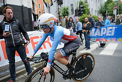 Karol-Ann Canuel after the UCI Road World Championships Elite Women's Individual Time Trial 2017 a 21.1 km time trial in Bergen, Norway on September 19, 2017. (Photo by Sean Robinson/Velofocus)