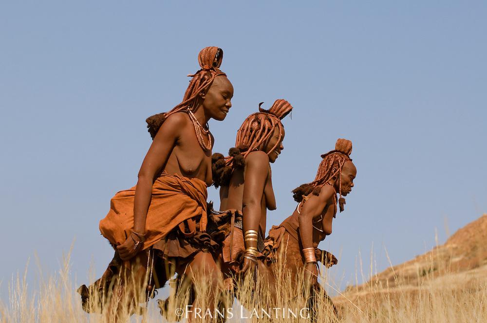 Himba women, Puros Conservancy, Damaraland, Namibia