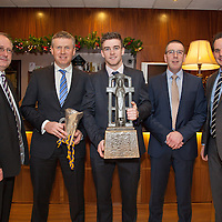 Jimmy Browne, Selector, Donal Moloney, Co-Manager, Tony Kelly (Capt), Gerry O'Connor, Co Manager and Paul Kinnerk , Coach at the Clare U21 Hurling Final Winners Medal presentation in the West County Hotel on Saturday 06 Dec