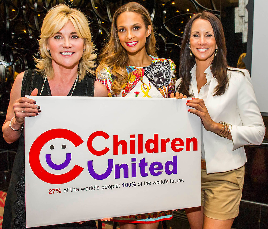 """Anthea Turner, Alesha and Andrea Maclean - Alesha Dixon launches Children United and the """"We Are The Children United"""" single. Alesha is the most well-known name on the single, the first voice you hear on the song is that of 12-year-old Patience who lives in a children's home in Uganda after losing most of her family to AIDS. The pair are joined by thousands more children from countries as far flung as Kenya, Australia, India, USA, Uganda, The Netherlands and Norway who all feature on the Children United single. More countries and more children are joining the """"world's biggest pop group"""" every day and posting their recordings on YouTube. The song was written by Barney Cox and produced by Nigel Wright.<br /> Around 10,000 children's voices are on the song including 6,500 children from the Voice In A Million choir<br /> who performed the song live at Wembley with Alesha in March.<br /> <br /> Children United is an online platform which will bring children together from across the globe to discuss the issues that matter to them, and provide them with the opportunity to have their voices heard. The three founding partner organisations are First News, Achievement for All, and Skoolbo. They have been working with Microsoft to support the web development and integration of Skype technology that will connect children across the world in face-to-face conversations. Save the Children are the charity's key NGO partner.<br /> <br /> The Children United website, which encourages children around the world to """"join-up"""" and be heard, opens for<br /> registration on Wednesday (15 April) and goes fully live and interactive in September. The site will be moderated<br /> by schools around the world to ensure a secure environment for children to talk to each other safely."""