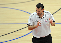 Bristol Flyers head coach, Andreas Kapoulas - Photo mandatory by-line: Dougie Allward/JMP - Mobile: 07966 386802 - 17/01/2015 - SPORT - Basketball - Bristol - SGS Wise Campus - Bristol Flyers v Worcester Wolves - British Basketball League