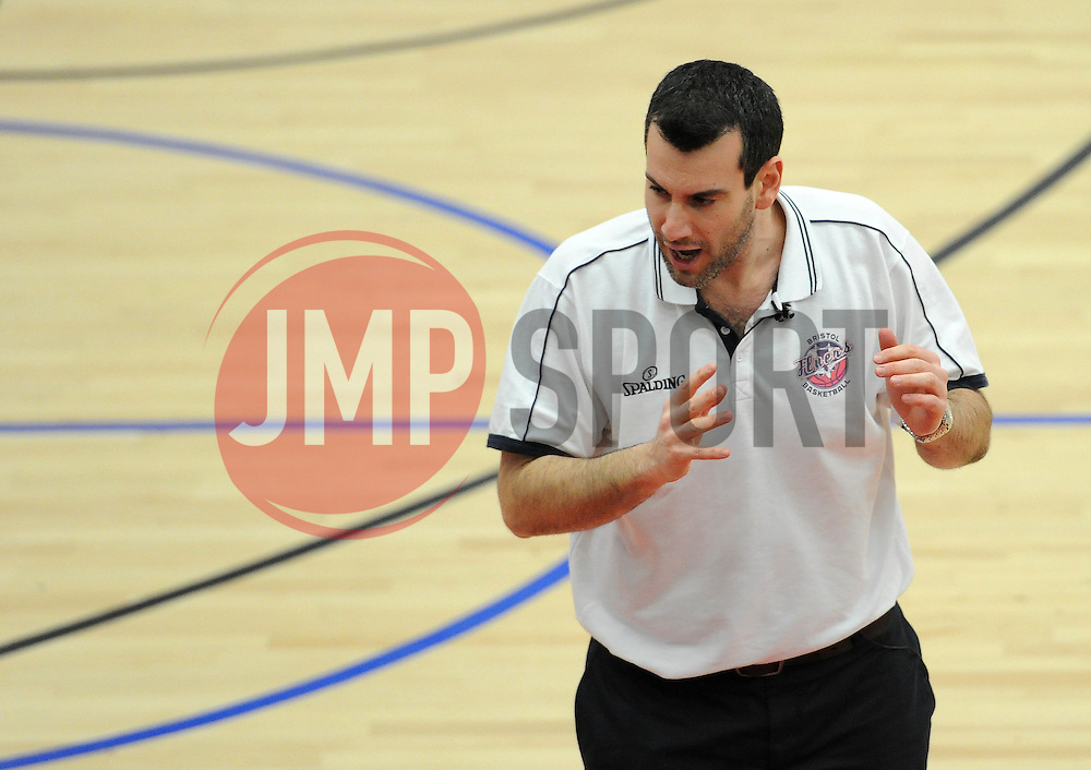 Bristol Flyers head coach, Andreas Kapoulas - Photo mandatory by-line: Dougie Allward/JMP - Mobile: 07966 386802 - 17/01/2015 - SPORT - Basketball - Bristol - SGS Wise Campus - Bristol Flyers v Worcester Wolves - British Basketball League