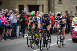 Emilie Moberg & Stephanie Pohl approach the top of the second categorised climb - Stage 4 of the OVO Energy Women's Tour - a 123 km road race, starting and finishing in Chesterfield on June 10, 2017, in Derbyshire, United Kingdom. (Photo by Sean Robinson/Velofocus.com)