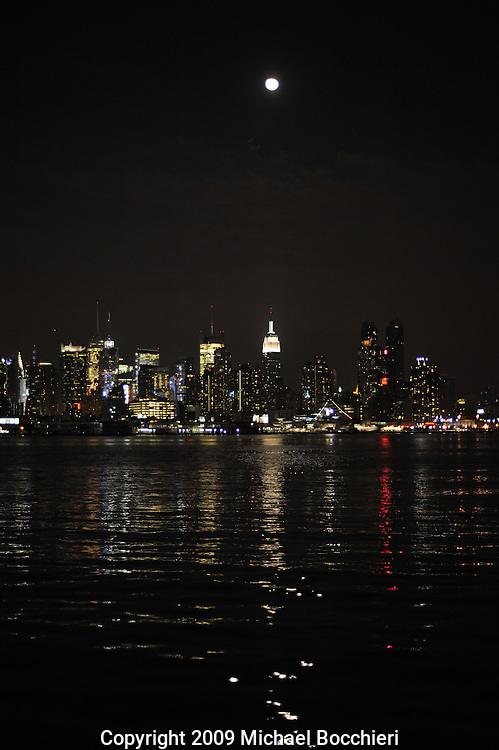 WEST NEW YORK, NJ - AUGUST 03:  View of New York City skyline August 03, 2009 in WEST NEW YORK, NJ.  (Photo by Michael Bocchieri/Bocchieri Archive)