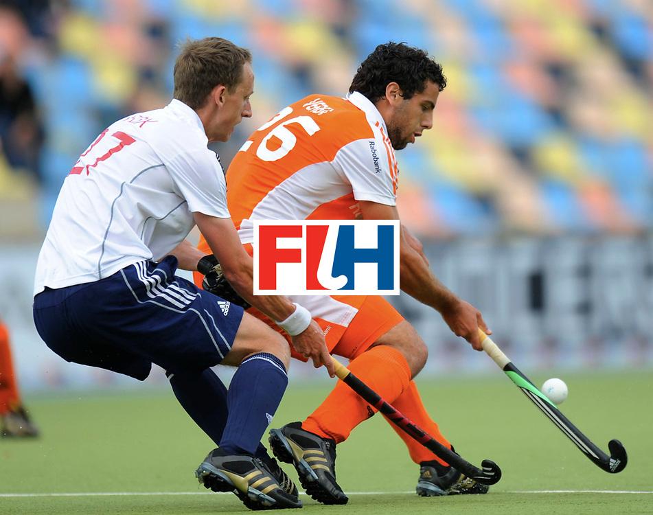 Monchengladbach - Champions Trophy men<br /> England vs Netherlands<br /> foto: Valentin Verga (orange) and Dan Fox (white)<br /> FFU Press Agency  COPYRIGHT Frank Uijlenbroek