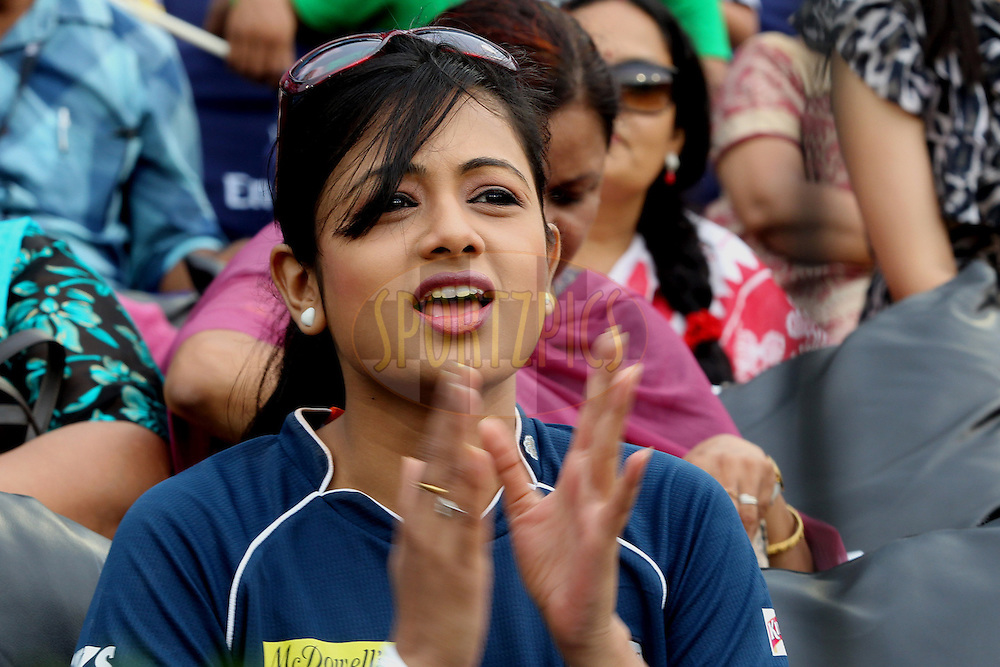 Archita brand ambassador of DC during match 42 of the the Indian Premier League ( IPL) 2012  between The Deccan Chargers and the Pune Warriors India held at the Barabati Stadium, Cuttack on the 1st May 2012..Photo by: Prashant Bhoot/IPL/SPORTZPICS
