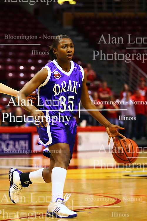 31 December 2006: Kaniesha Agee. The Bulldogs of Drake University dropped a conference match-up to the Redbirds 64-50 at Redbird Arena in Normal Illinois on the campus of Illinois State University.<br />