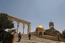 July 26, 2018 - The Al-Aqsa Mosque and its compound in Jerusalem old city. The mosque is the third holiest site in Islam and is located in East Jerusalem. Since the 1967 second Arab-Israeli war, Israel has occupied East Jerusalem, including the Old City and Al-Aqsa compound, thus controlling and limiting the access of Palestinians to the Al-Aqsa mosque (Credit Image: © Mohammed Turabi/IMAGESLIVE via ZUMA Wire)