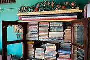 House of Mr. Sultan Kader. Nagore. The book cupboard.