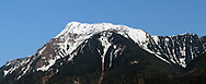 Mount Cheam in the early spring.  Photographed in the evening from Agassiz, British Columbia, Canada