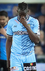 April 19, 2018 - Brugge, BELGIUM - Charleroi's Amara Baby looks dejected during the Jupiler Pro League match between Club Brugge and Sporting Charleroi, in Brugge, Thursday 19 April 2018, on day four of the Play-Off 1 of the Belgian soccer championship. BELGA PHOTO VIRGINIE LEFOUR (Credit Image: © Virginie Lefour/Belga via ZUMA Press)