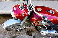 BSA motorcycle in Cardenas, Matanzas, Cuba.