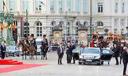 Spanish King and Queen visiting Belgium