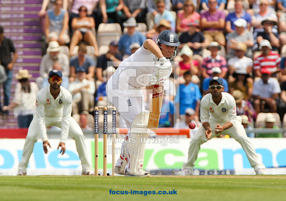 Gary Ballance of England bats during the Investec Test Match match at the Ageas Bowl, West End<br /> Picture by Tom Smith/Focus Images Ltd 07545141164<br /> 27/07/2014