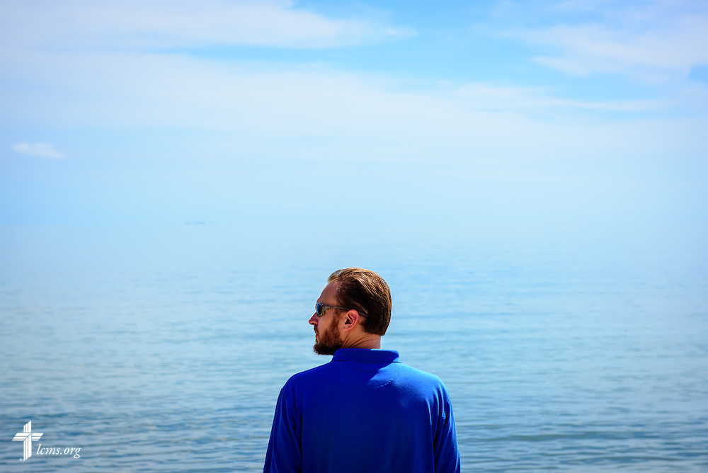 The Rev. Duane Meissner, career missionary to Belize, looks over the Caribbean Sea on Tuesday, Sept. 27, 2016, in Seine Bight, Belize. Meissner's objective is to plant the first Lutheran churches in the country. LCMS Communications/Erik M. Lunsford