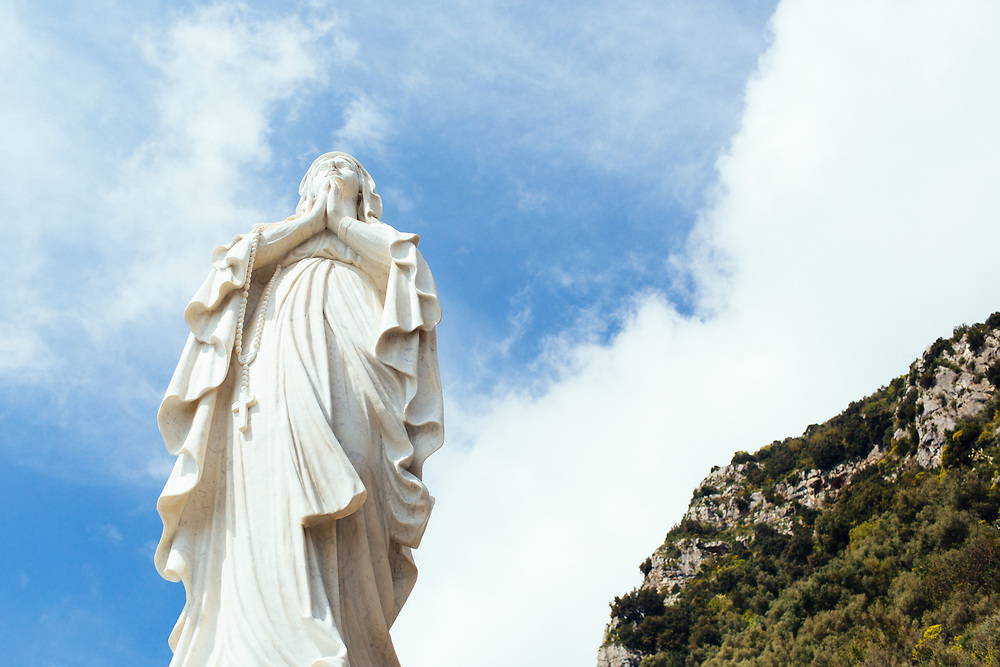 Statue in Amalfi, Italy