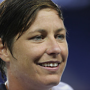 Abby Wambach, USA, at the end of the game after becoming the greatest goal scorer in international soccer. Wambach scored four goals during the U.S. Women's 5-0 victory over Korea Republic, friendly soccer match. The four goals brings her tally to 160 goals which eclipsed Mia Hamm's all-time goal record of 158 goals.  Red Bull Arena, Harrison, New Jersey. USA. 20th June 2013. Photo Tim Clayton