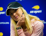 Elina Svitolina of the Ukraine talks to the media after the first round of the 2018 US Open Grand Slam tennis tournament, New York, USA, August 27th 2018, Photo Rob Prange / SpainProSportsImages / DPPI / ProSportsImages / DPPI