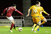 Northampton Town midfielder (on loan from Crystal Palace) Keshi Anderson (7) shoots during the EFL Sky Bet League 1 match between Northampton Town and Port Vale at Sixfields Stadium, Northampton, England on 14 March 2017. Photo by Dennis Goodwin.