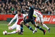 18-12-2016: Voetbal: Ajax v PSV: Amsterdam<br /> <br /> (L-R) Ajax speler Lasse Schone, PSV speler Davy Pr&ouml;pper tijdens het Eredivisie duel tussen Ajax en PSV op 18 december in De Arena tijdens speelronde 17<br /> <br /> Eredivisie - Seizoen 2016 / 2017<br /> <br /> Foto: Gertjan Kooij