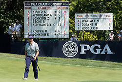 August 10, 2018 - St. Louis, Missouri, United States - Beau Hossler approaches the 9th green during the second round of the 100th PGA Championship at Bellerive Country Club. (Credit Image: © Debby Wong via ZUMA Wire)
