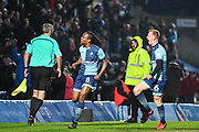 Wycombe Wanderers Midfielder Marcus Bean (8) celebrates scoring (4-3) in the 6th minute of extra time during the EFL Sky Bet League 2 match between Wycombe Wanderers and Carlisle United at Adams Park, High Wycombe, England on 3 February 2018. Picture by Stephen Wright.