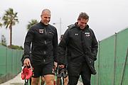 *Ron Vlaar* of AZ Alkmaar, assistant trainer *Leeroy Echteld* of AZ Alkmaar